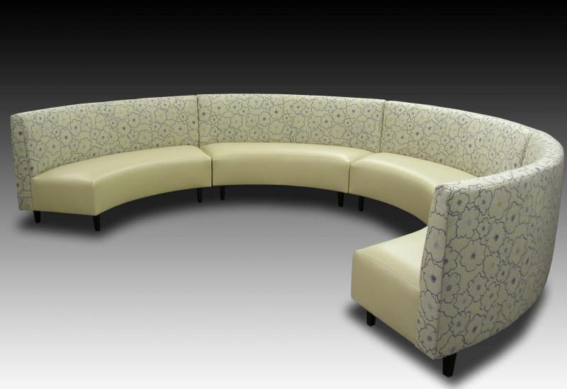 Silverstone home upholstery custom furniture custom built Curved bench seating